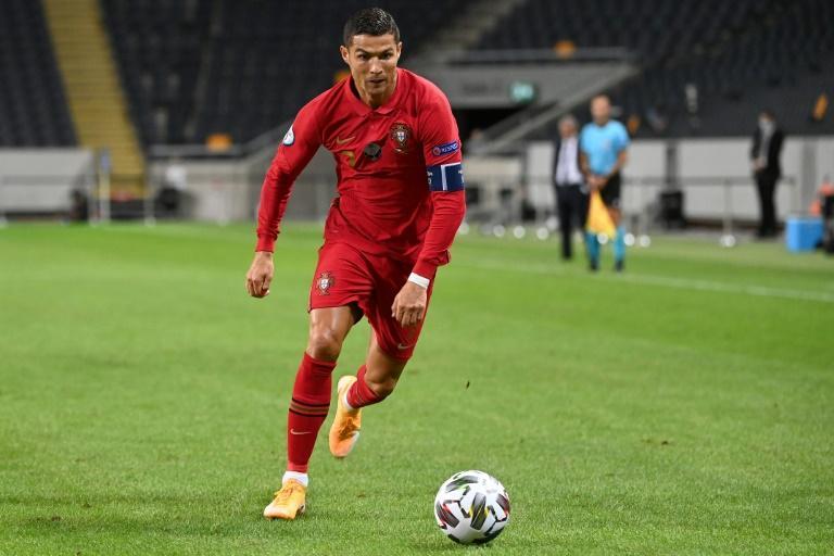 Le footballeur Cristiano Ronaldo lors de la victoire du Portugal en Suède 2-0 en Ligue des nations le 8 septembre 2020 à Solna en Suède afp.com - Jonathan NACKSTRAND