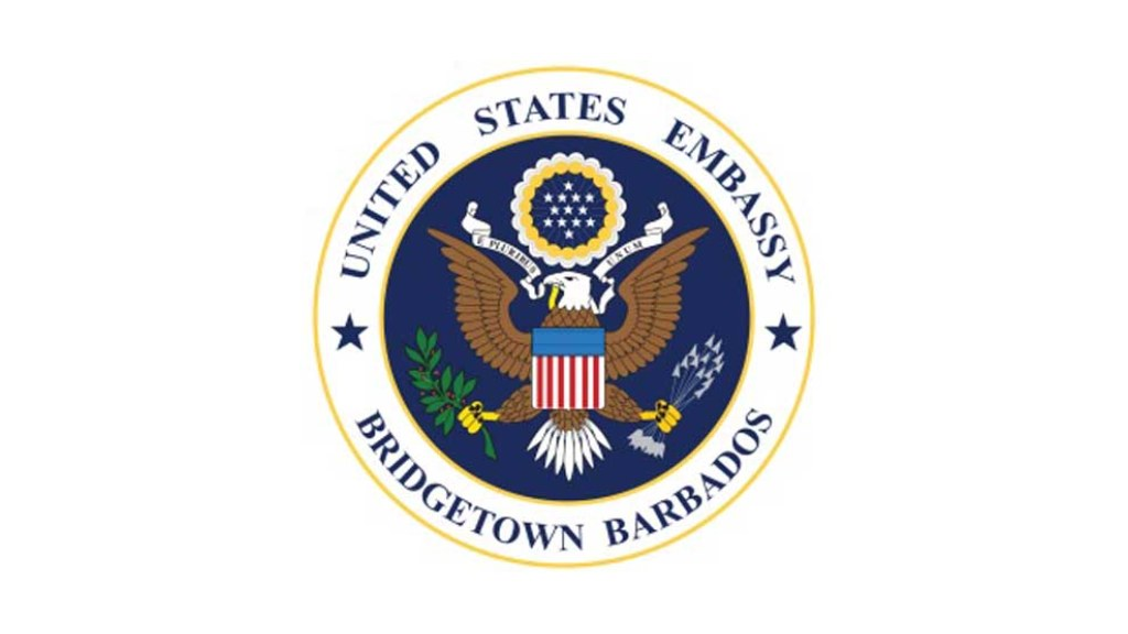 US Embassy in Bridgetown for Barbados and the OECS logo