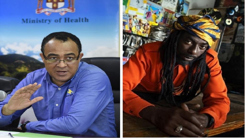 Combination of photos showing health minister Dr Christopher Tufton (left) and reggae artiste Buju Banton.
