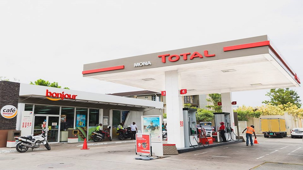 A Total gas station in Mona, St Andrew.