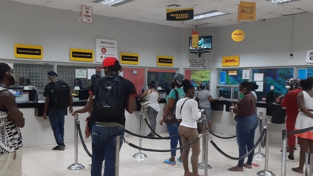 File photo of a Western Union remittance outlet in Jamaica.
