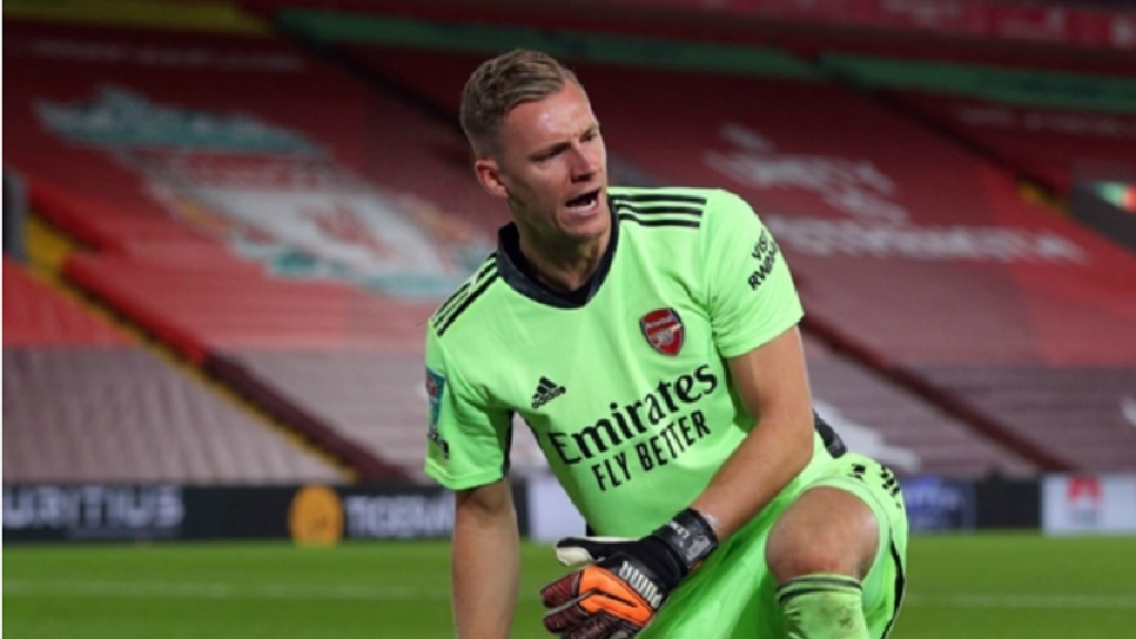 Bernd Leno was the shoot-out hero for Arsenal in their penalty win over Liverpool.