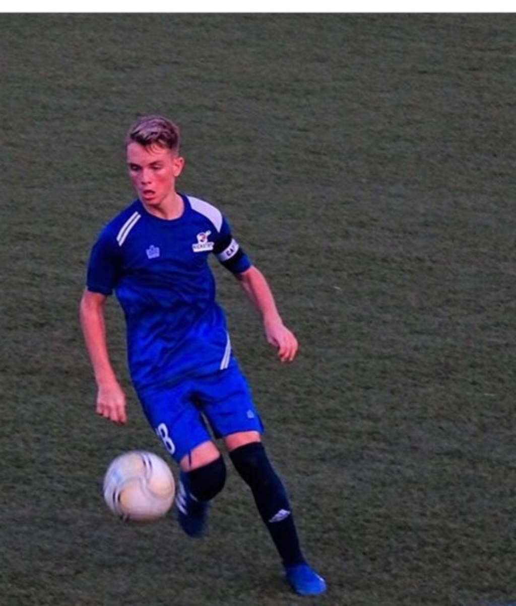National youth player Axel Funk in action