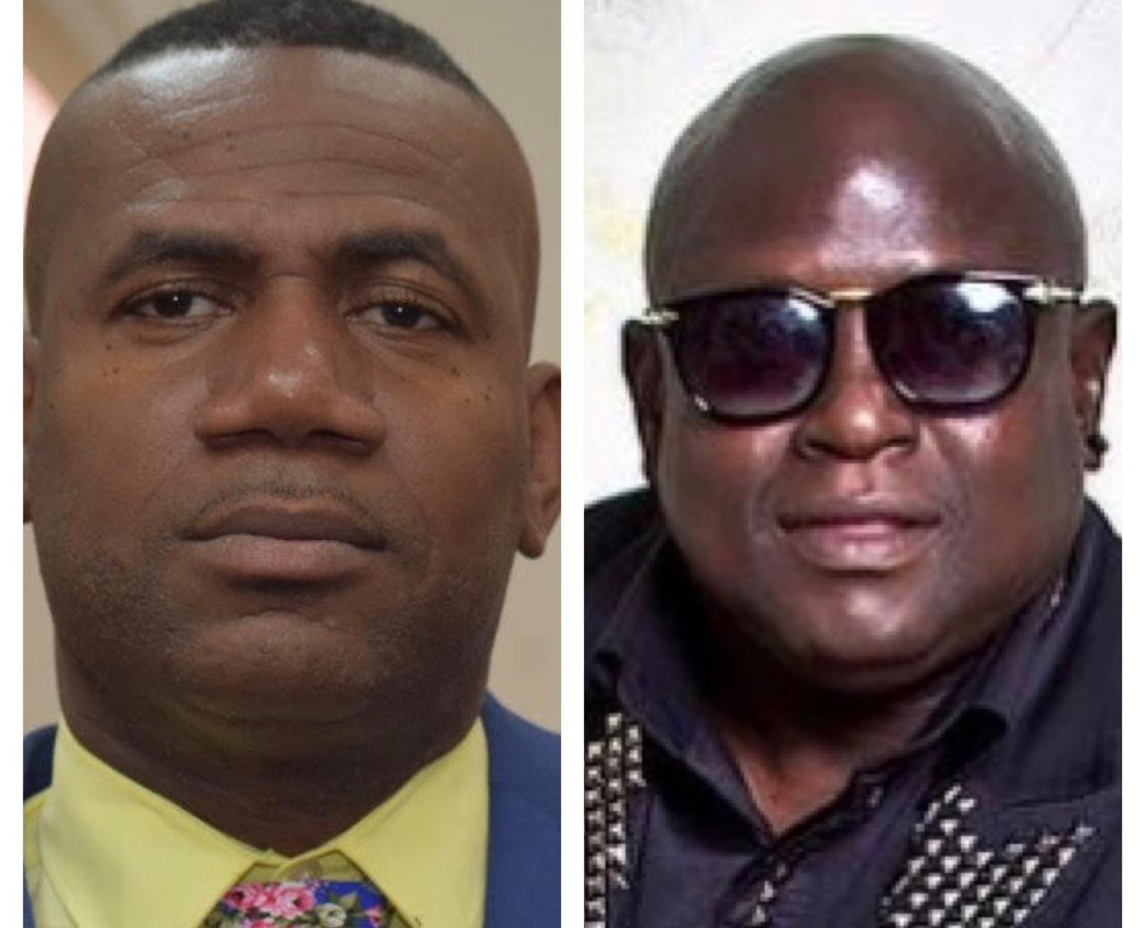 St Kitts-Nevis Deputy Prime Minister Shawn Richards; Soca artiste Dexter 'Blaxx' Stewart.