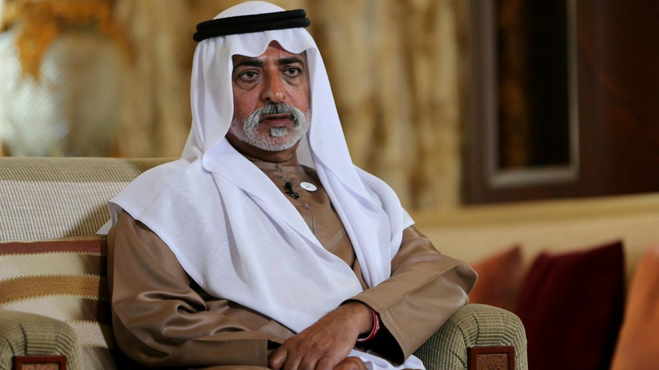 In this January 24, 2019 file photo, Sheikh Nahyan bin Mubarak Al Nahyan, the tolerance minister of the United Arab Emirates, speaks to The Associated Press in Abu Dhabi, United Arab Emirates. (AP Photo/Kamran Jebreili, File)