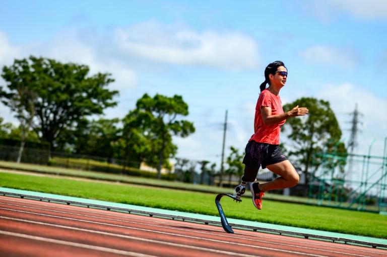 L'athlète japonaise Sayaka Murakami, à l'entraînement à Chiba le 31 août 2020, au Japon
