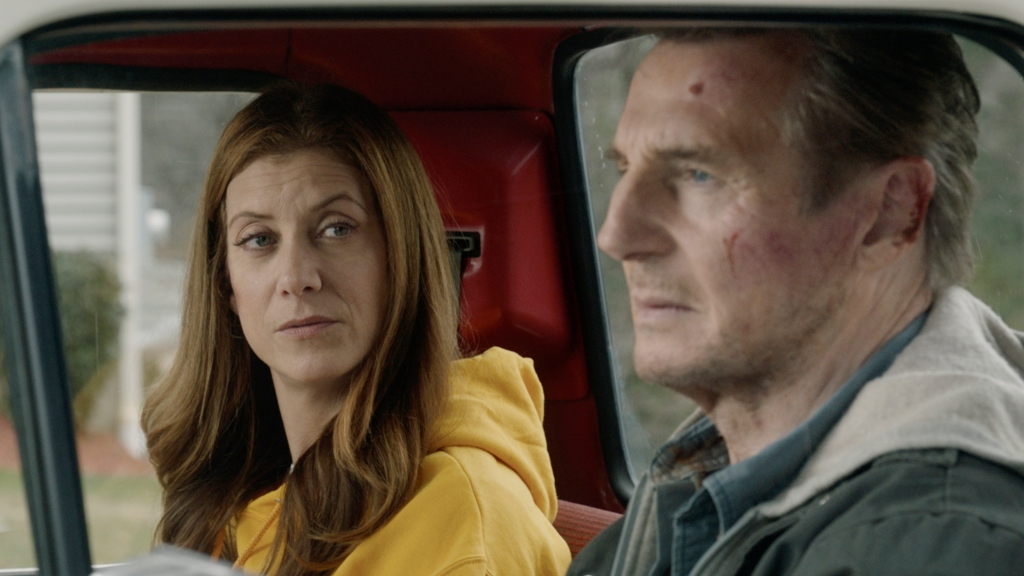 "This image released by Open Road Films shows Kate Walsh, left, and Liam Neeson in a scene from ""Honest Thief."" Photo:Open Road Films via AP"