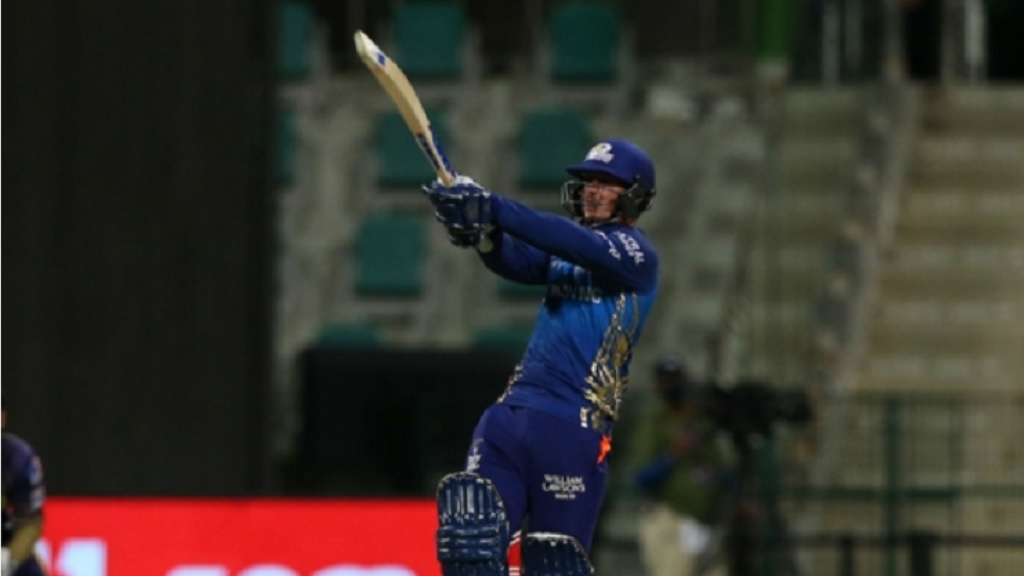 Quinton de Kock finished on 78 not out off 44 balls to get Mumbai Indians to 149 for two.