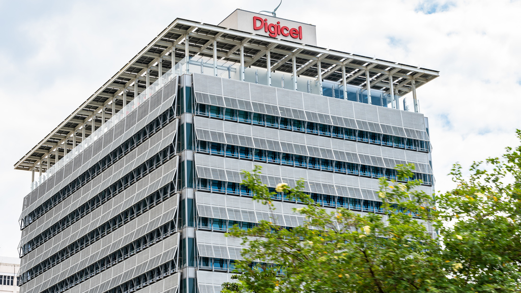 The Digicel Ocean Boulevard headquarters in Kingston.