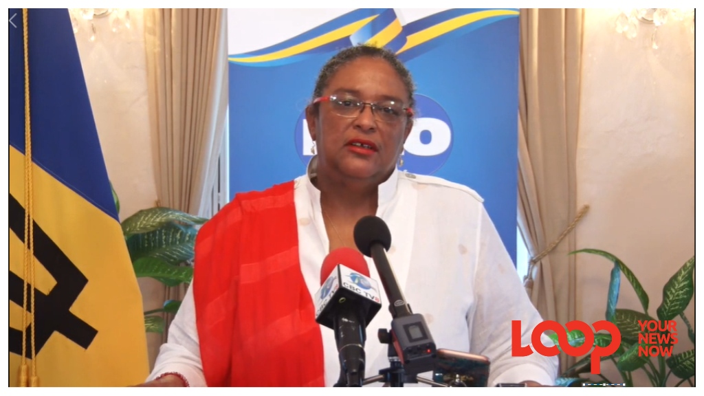 Prime Minister Mia Amor Mottley as she addressed the nation on July 22, 2020