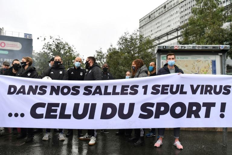 Manifestation le 2 octobre 2020 à Paris contre la fermeture des salles de sport