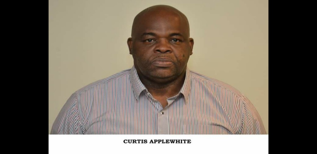 Sgt Curtis Applewhite appeared before Magistrate Indar Jagroo of the Port of Spain Magistrates' Court on October 15. (Photo: Trinidad and Tobago Police Service)