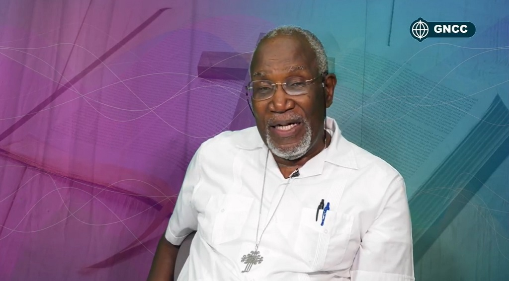Screengrab of Bishop Clyde Harvey speaking during his conversations with the Bishop in Grenada.