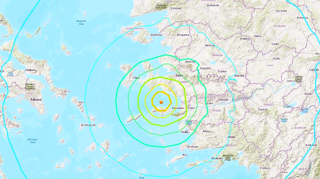 7.0 quake  rocks Greece and Turkey