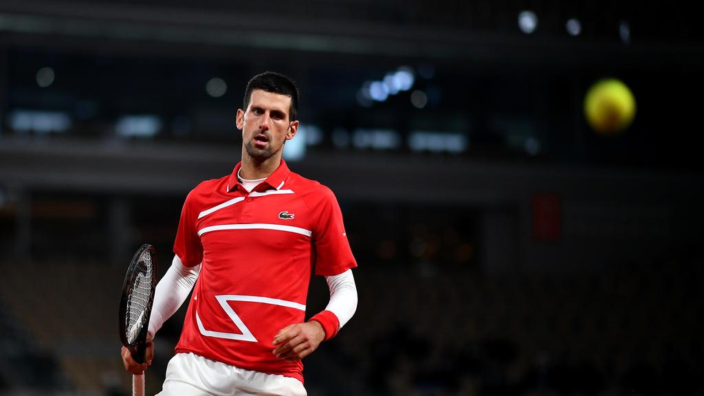 Novak Djokovic, le 5 octobre, face à Karen Khachanov. | Anne-Christine POUJOULAT / AFP