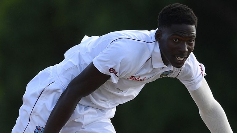 "Chemar Holder starred for West Indies ""A"" in an unofficial series against India ""A"" in August 2018. (Photo credit - Cricket West Indies)"