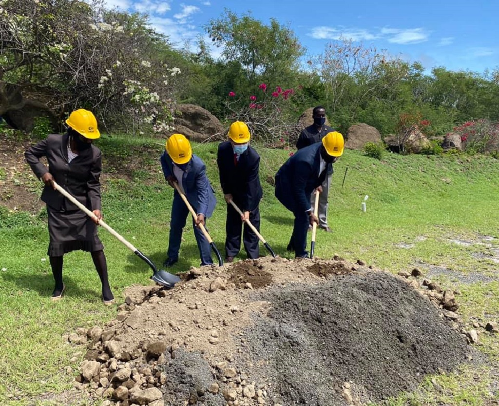 Sod turning ceremony for upgrade and rehabilitation works at the Maurice Bishop International Airport, Grenada. (Photo: via Facebook)