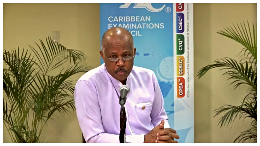 Professor Sir Hilary Beckles on today's press conference via ZOOM.