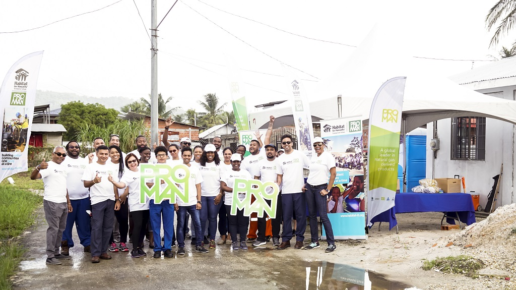 Members of the Proman Family of Companies joined Habitat for