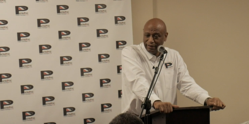OWTU President General Ancel Roget at launch of Patriotic Energies
