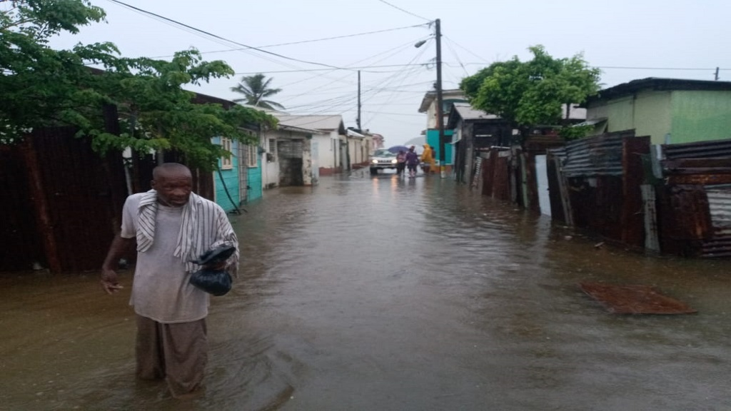 Flooding today, October 5 in St Lucia.