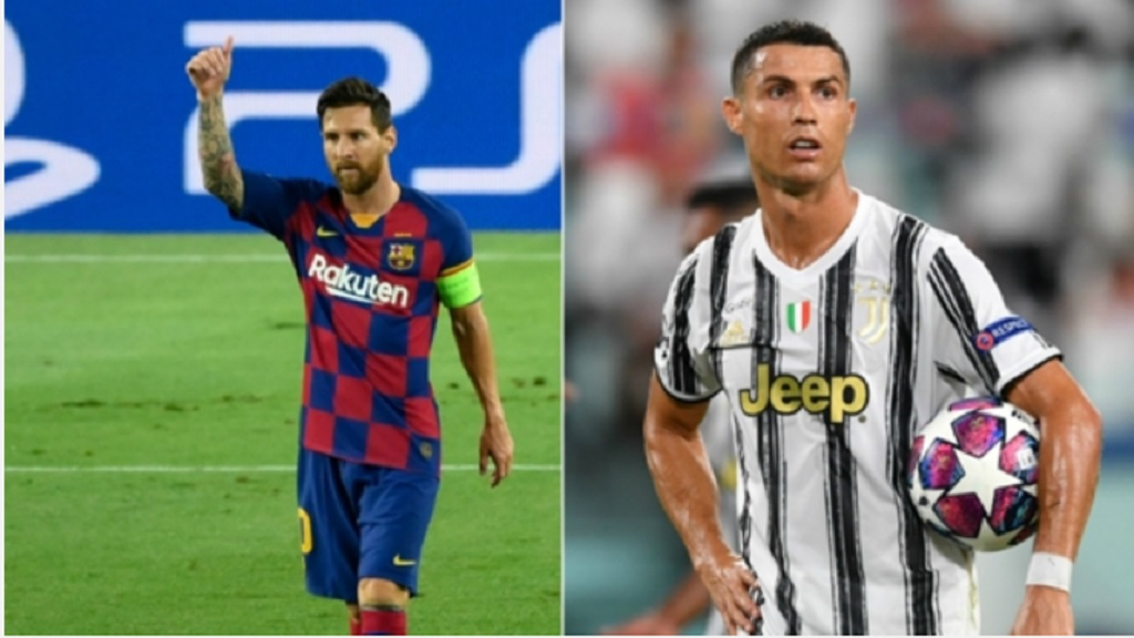Lionel Messi (left) and Cristiano Ronaldo will face each other in the 2020-2021 season of the Champions League.