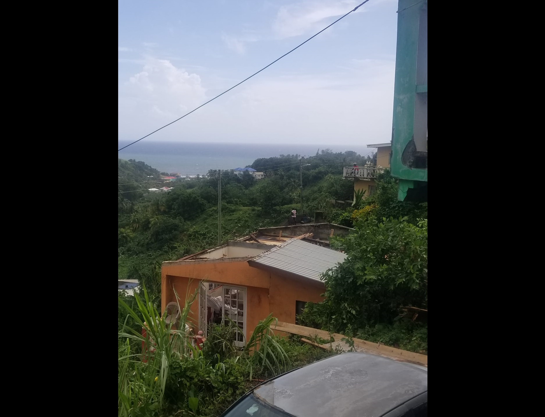 Aftermath of severe weather in St Vincent and the Grenadines on October 29. (Photo : Facebook)