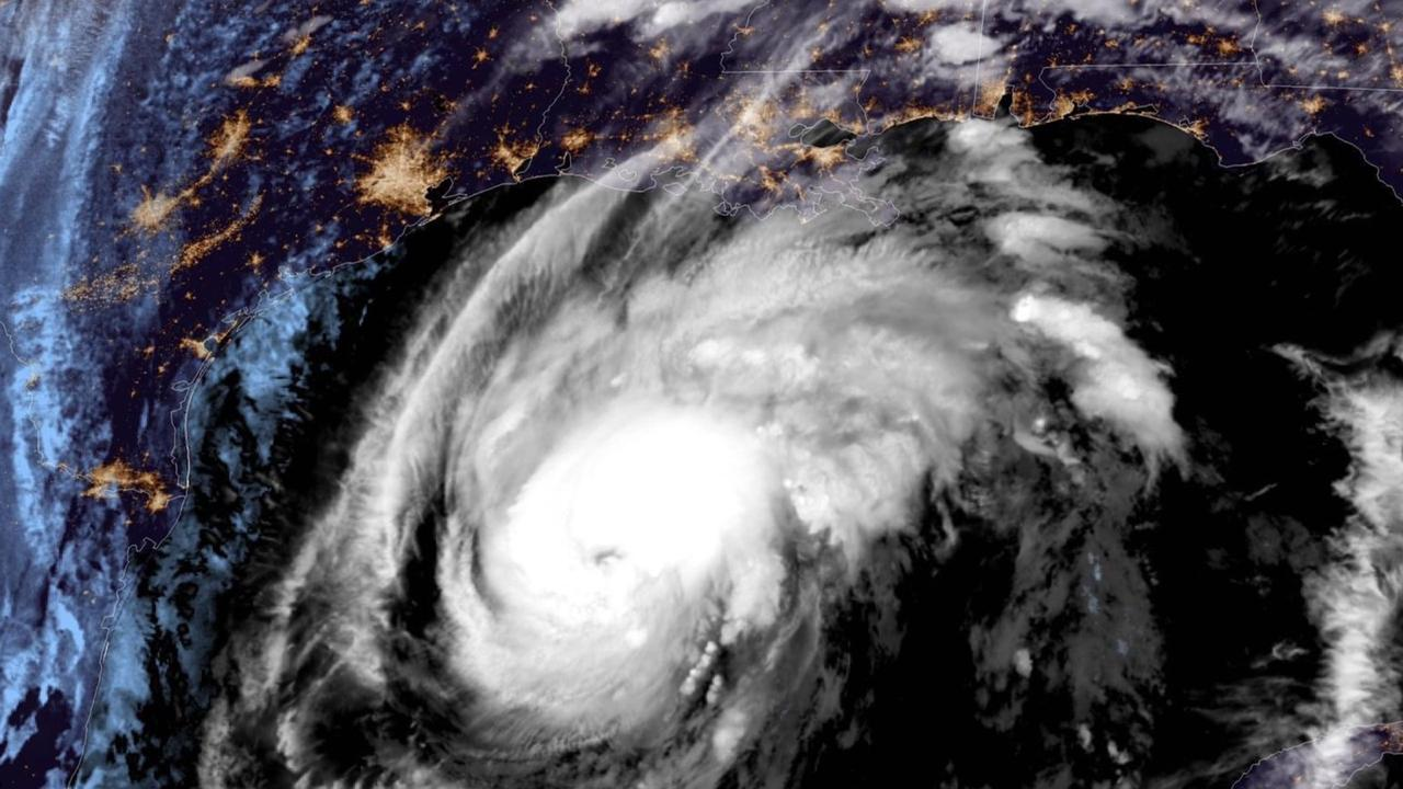 Satellite image of Hurricane Zeta.