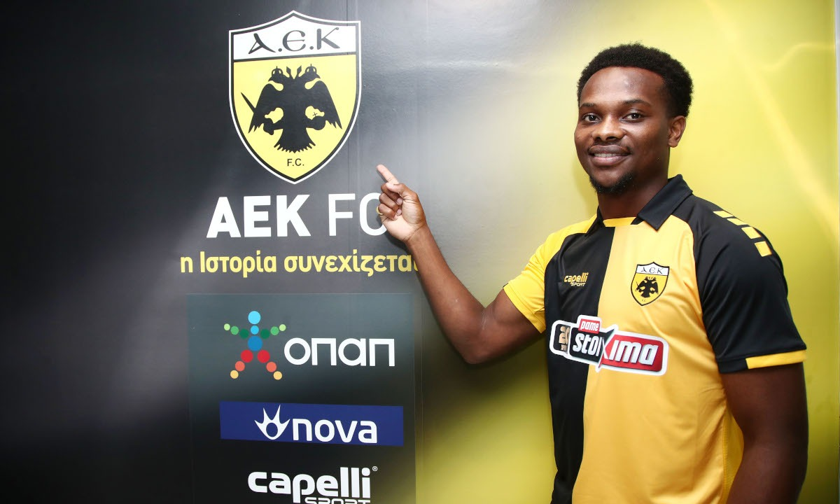 T&T's Levi Garcia suffered a serious injury while in action for AEK Athens on Sunday. He signed for the Greek club in September.