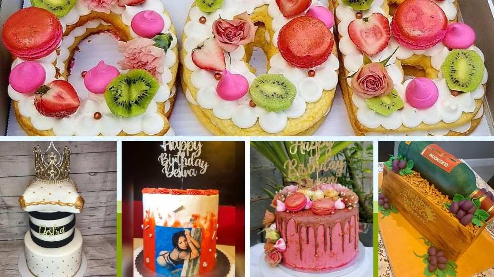 Destra Garcia, the Queen of Bacchanal proved she is popular with her fans when she received five cakes for her birthday on Tuesday. Photos courtesy Destra.