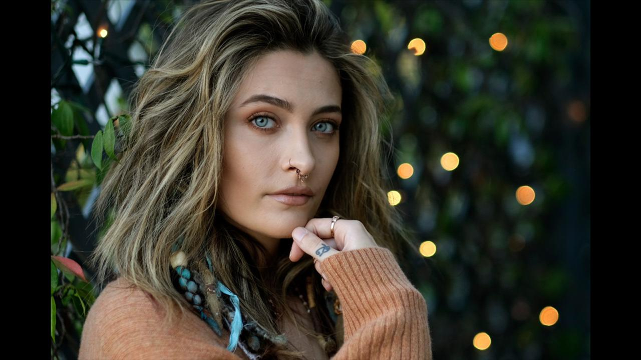 "Paris Jackson poses for a portrait in Beverly Hills, Calif., on Oct. 27, 2020, to promote her debut solo album ""Wilted,"" releasing on November 13. Her new single ""Let Down"" drops Friday, Oct. 30. (AP Photo/Chris Pizzello)"