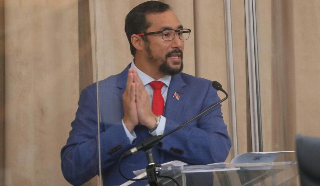 Minister of National Security Stuart Young. Photo courtesy Trinidad and Tobago Parliament.