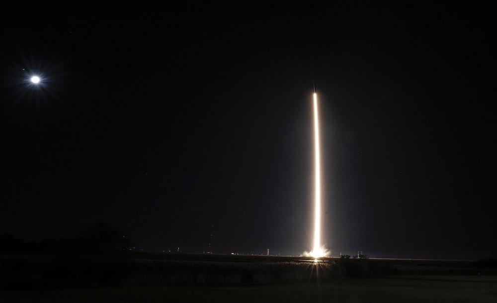 Northrup Grumman's Antares rocket lifts off the launch pad at the NASA Wallops test flight facility in Wallops Island, Virginia. The rocket will deliver supplies to the International Space Station (Thom Baur/Northrup Grumman via AP)