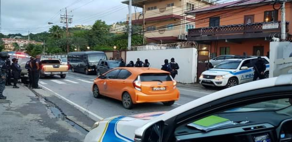 Twenty-one men suspected to be illegal immigrants were arrested for breach of the immigration laws. (Photo: Trinidad and Tobago Police Service)