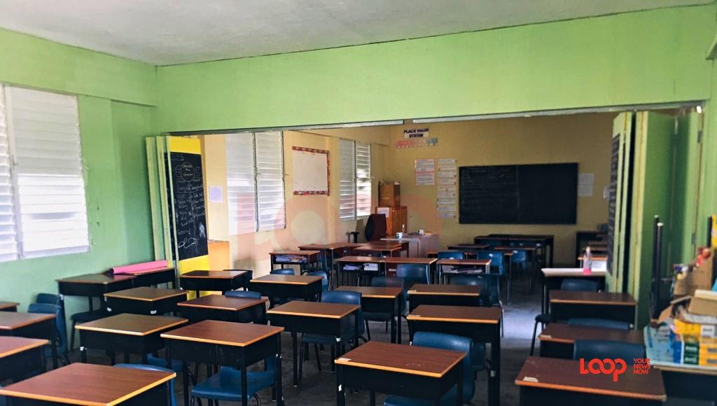 Empty Wilkie Cumberbatch classrooms today (November 2).