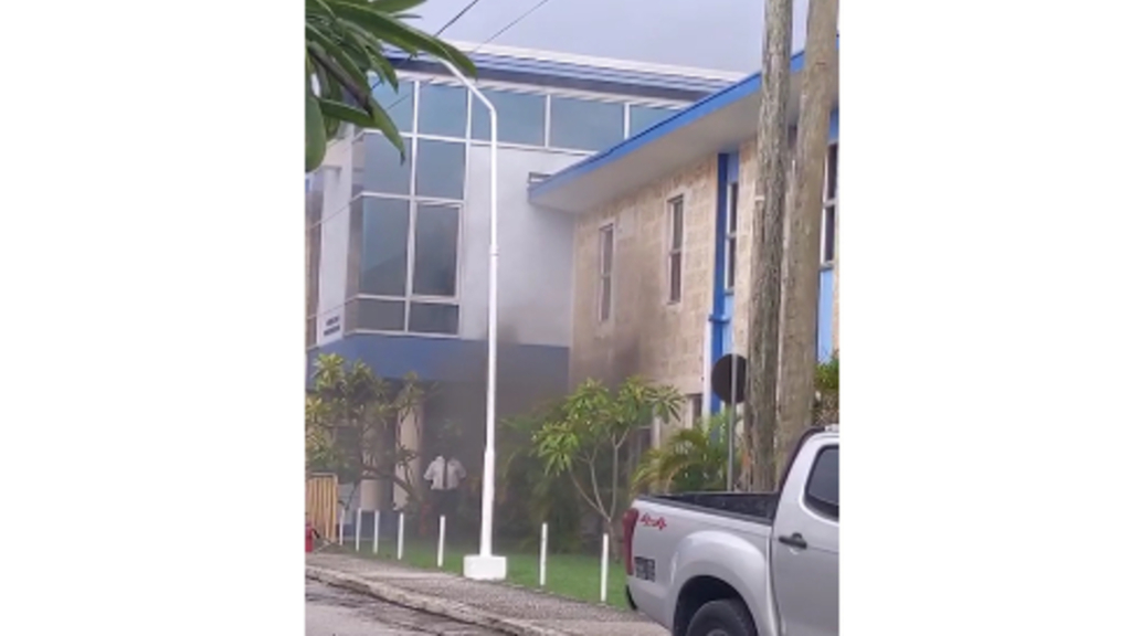 Fire in Humanities Block at UWI Cave Hill campus