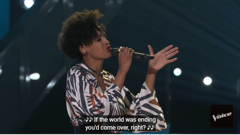Payge Turner survived the Battle Round to progress to another round on The Voice