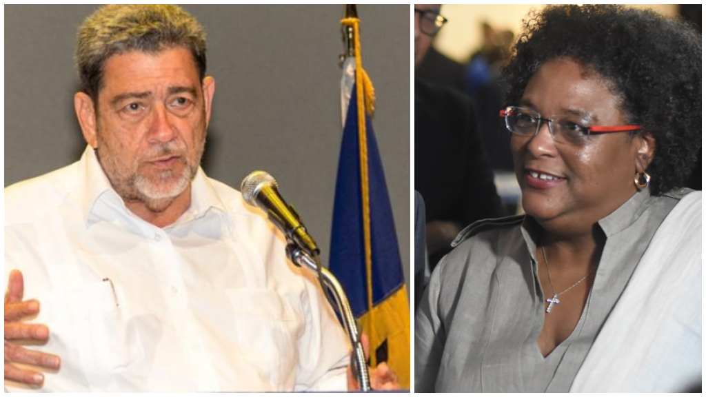 SVG PM DrRalph Gonsalves and PM Mia Mottley