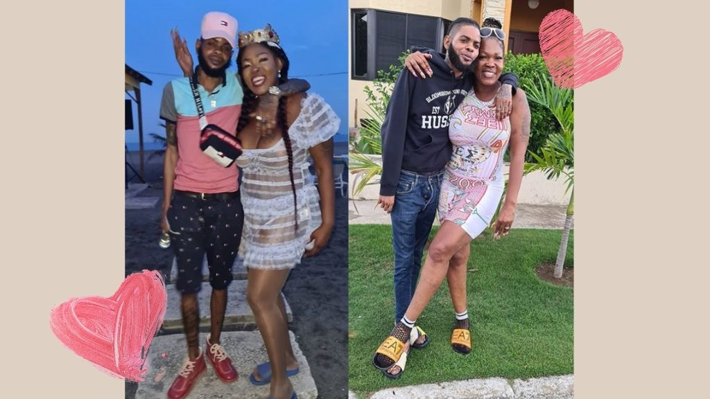 In these photos posted to her Instagram page @queenladi_gangsta, Queenie and Dowey are seen embracing each other lovingly.