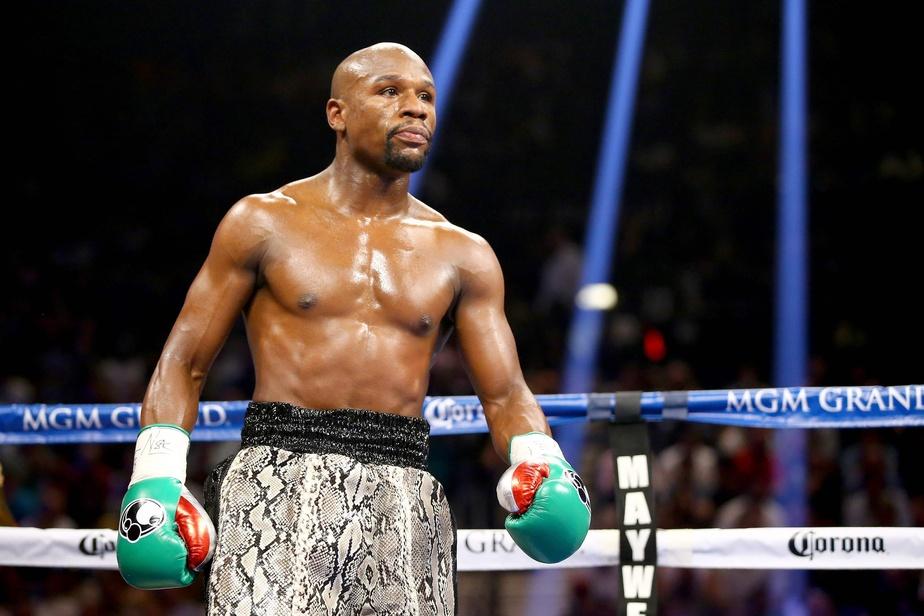 Sur cette photo leboxeur Floyd Mayweather, surnommé«Money». Photo : AFP