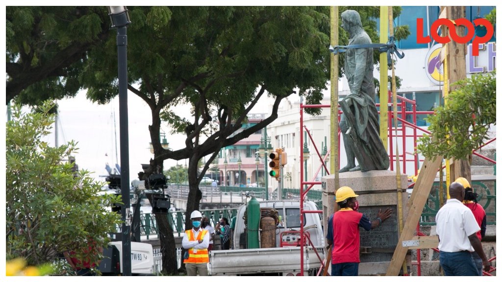 Lord Horatio Nelson's final moments in the National Heroes Square before being transported to the Barbados Museum.