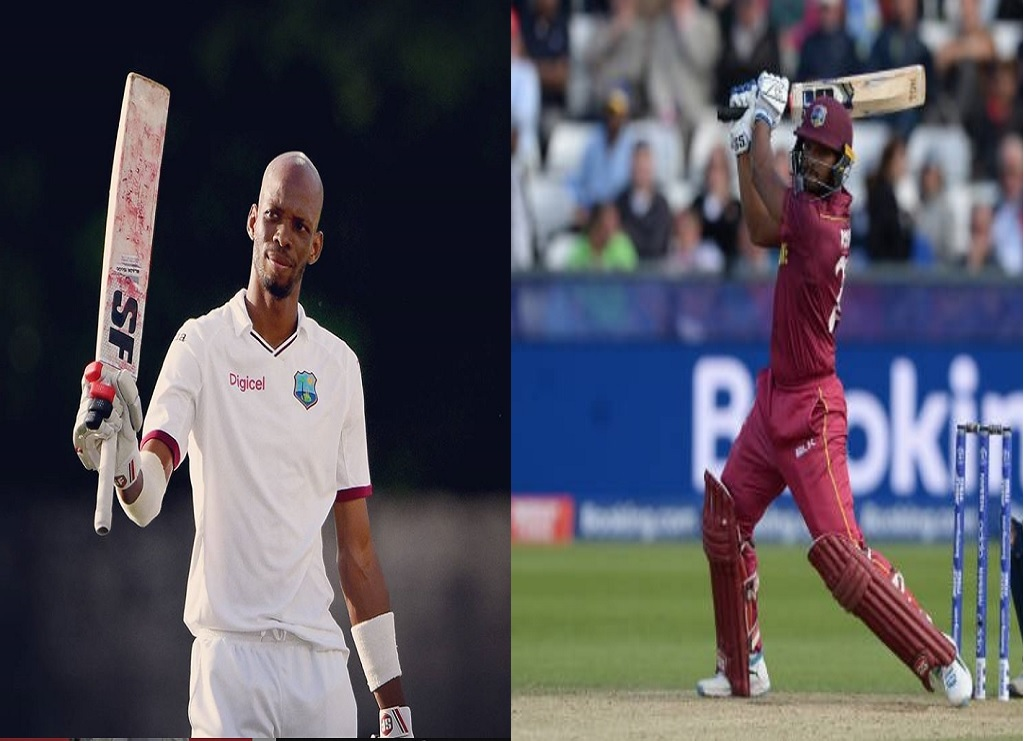 Roston Chase, left, and Nicholas Pooran.