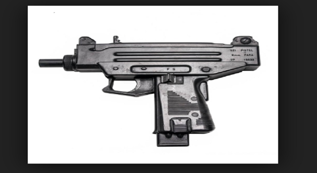 File photo of an Uzi submachine gun.