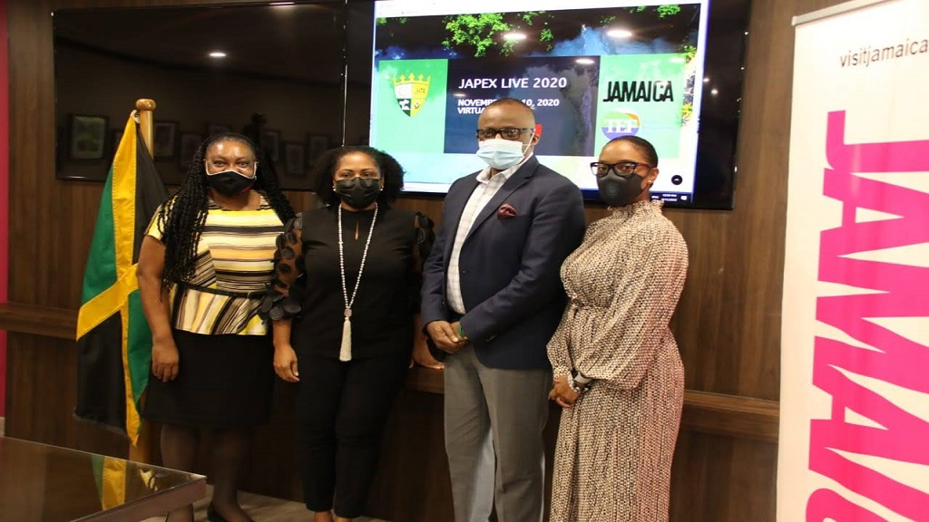 Left to right: Essie Gardner, Marketing Communications Manager; Camille Glenister, Deputy Director of Tourism; Donovan of Tourism, Director of Tourism and Safi James Barrow, Destination Marketing Manager.