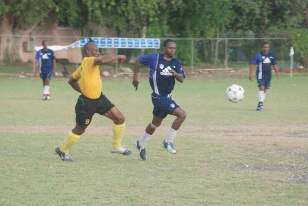 Masters players in action in the Old Boys League