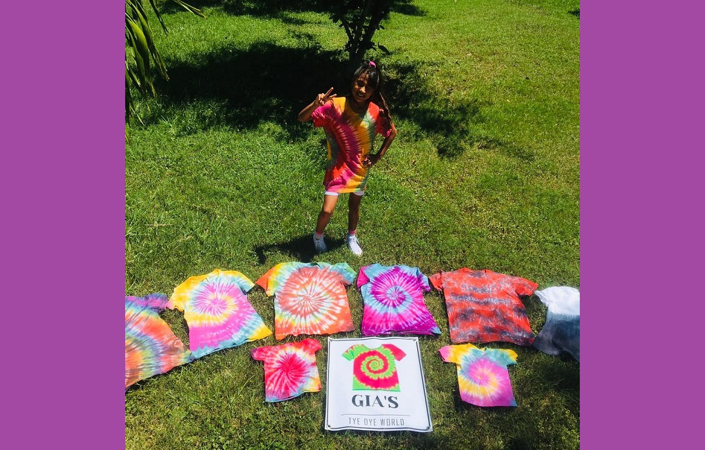 Gia Castillo from Belize has her own business called Gia's Tie-Dye World.