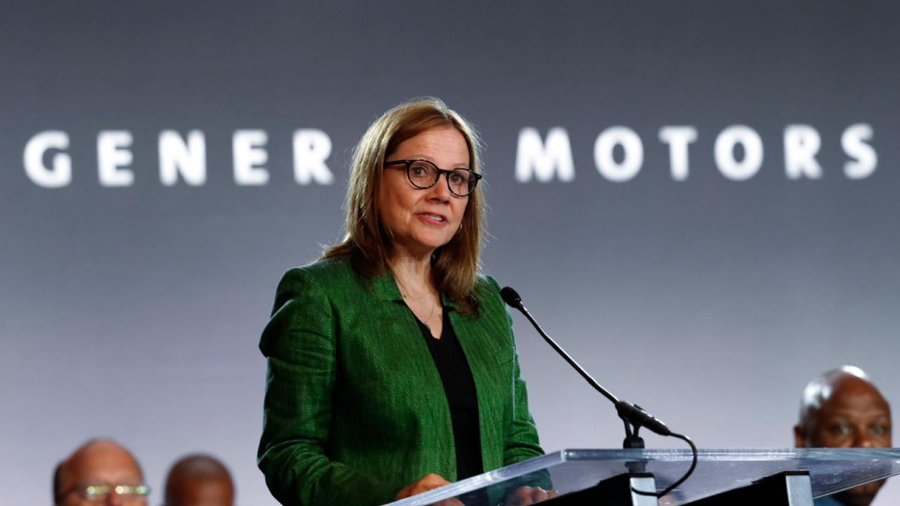 In this July 16, 2019 file photo, General Motors Chairman and Chief Executive Officer Mary Barra speaks during the opening of their contract talks with the United Auto Workers in Detroit. General Motors says it will no longer support the Trump administration in legal efforts to end California's right to set its own clean-air standards.(AP Photo/Paul Sancya)