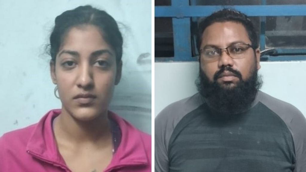 Renee Mohammed (left) and Dwayne Baldeo are charged with murder. (Photo: Trinidad and Tobago Police Service)