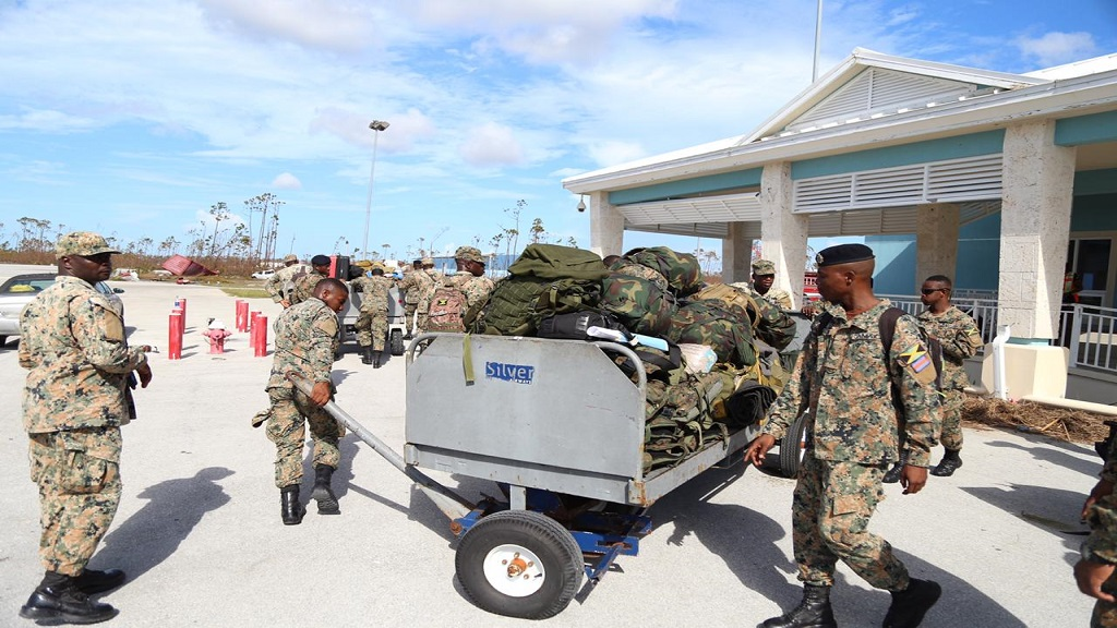 Members of the JDF's Disaster Assistance Relief Team (DART) in The Bahamas last year following Hurricane Dorian which devastated the country.