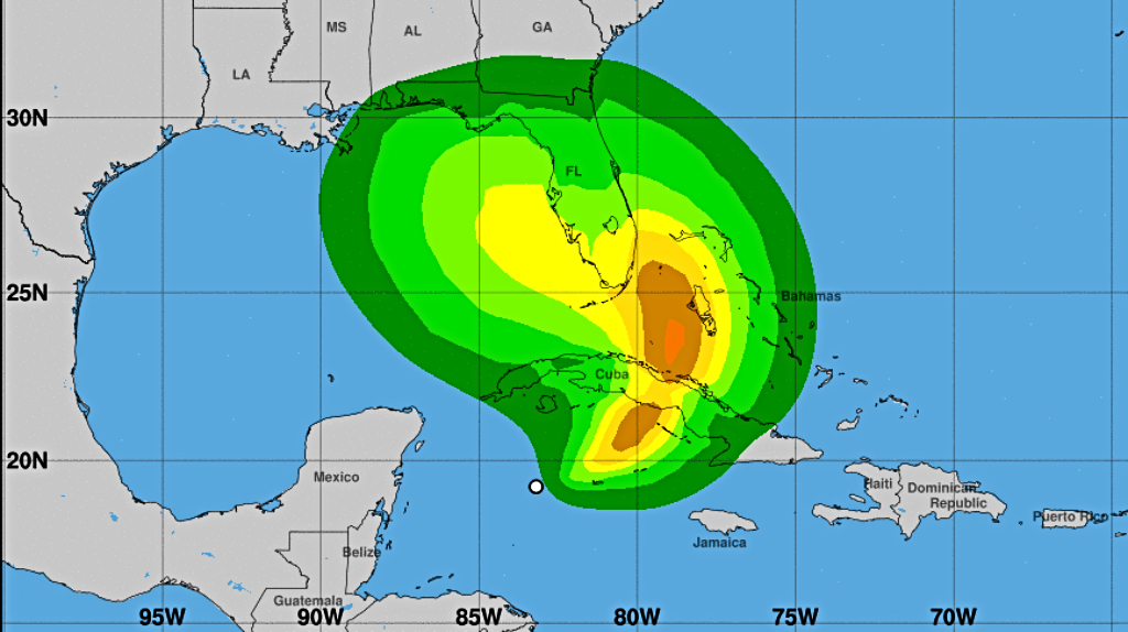 Tropical-storm force winds associated with TS Eta (Source: US NHC, NOAA)